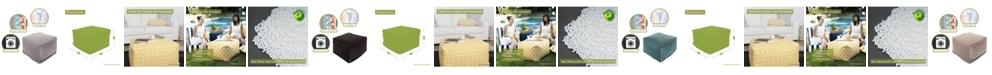 """Majestic Home Goods Villa Ottoman Square Pouf 27"""" x 17"""""""