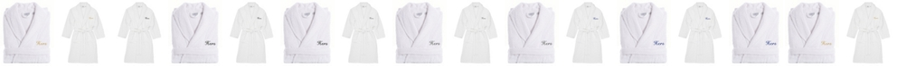 Linum Home Turkish Cotton Embroidered Hers Terry Bathrobe
