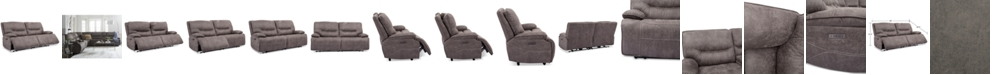 Furniture Felyx 84'' 2-Pc. Fabric Power Reclining Sofa With 2 Power Recliners, Power Headrests And USB Power Outlet