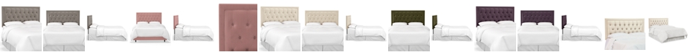 Martha Stewart Collection Skylands Collection Layla King Tufted Headboard, Quick Ship, Created for Macy's