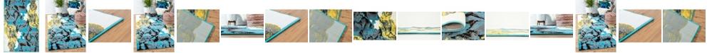 Bridgeport Home Politan Pol9 Turquoise Area Rug Collection