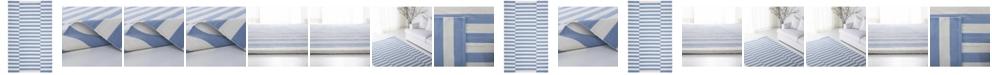 Lauren Ralph Lauren Ludlow Stripe LRL7350B Chambray Area Rug Collection