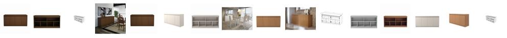 """Manhattan Comfort Viennese 62.99 """" 6- Shelf Buffet Cabinet"""