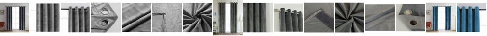 "Lyndale Decor Regency Velvet Room Darkening Curtain, 84"" L x 52"" W"