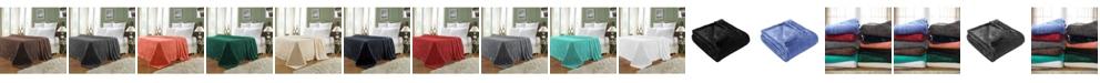 Superior Wrinkle Resistant Plush Fleece Blanket, Full/Queen