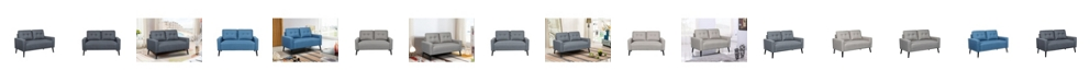 Us Pride Furniture Watterson Tufted Mid-Century Loveseat