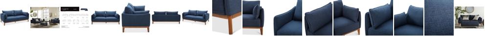 "Furniture Jollene 78"" Fabric Sofa, Created for Macy's"