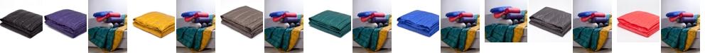 """Epoch Hometex inc PUFF 50"""" x 70"""" Down Alternative Indoor/Outdoor Water Resistant Packable Throw"""
