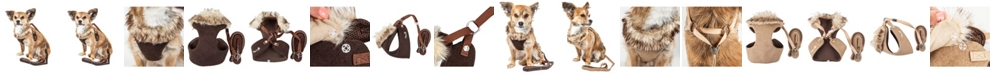 Pet Life Central Pet Life Luxe 'Furracious' 2-in-1 Dog Harness Leash with Removable Faux Fur Collar