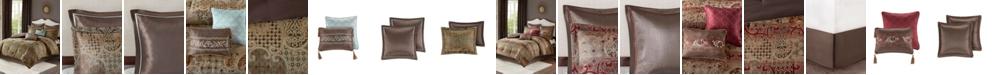 JLA Home Madison Park Hickory California King 8 Piece Chenille Jacquard Comforter Set