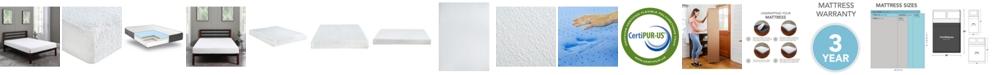 "Chic Couture Sleep Trends Ladan 8"" Cool Gel Memory Foam Firm Tight Top Mattress- Full"