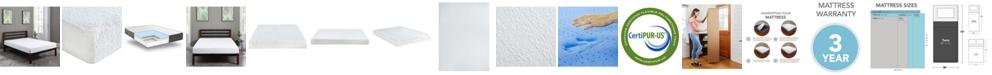 "Sleep Trends Ladan 8"" Cool Gel Memory Foam Firm Tight Top Mattress- Twin"
