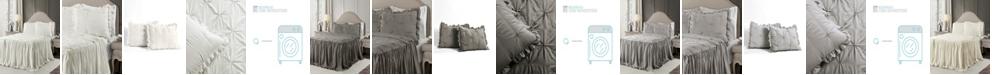 Lush Decor Ravello Pintuck Ruffle Skirt 3Pc Queen Bedspread Set