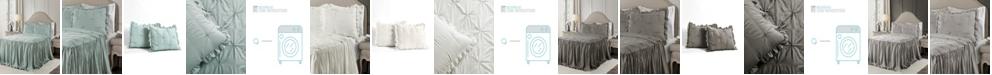 Lush Decor Ravello Pintuck Ruffle Skirt 3Pc Full Bedspread Set