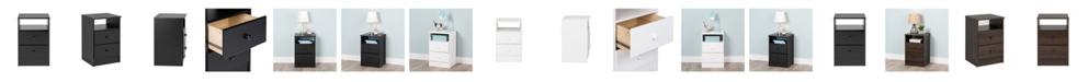Prepac Astrid 2-Drawer Nightstand