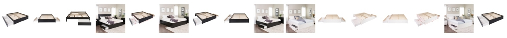 Prepac King Select 4-Post Platform Bed with 2 Drawers