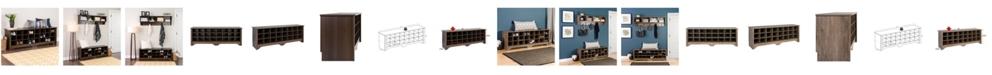 Prepac 24 Pair Shoe Storage Cubby Bench