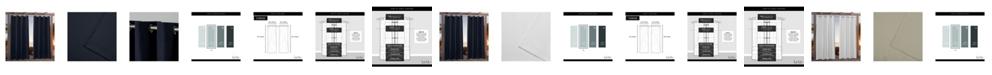 """Exclusive Home Nicole Miller Canvas Indoor/Outdoor Grommet Top 54"""" X 108"""" Curtain Panel Pair"""