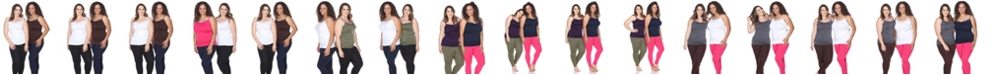 White Mark Plus Size Tank Tops Pack of 2