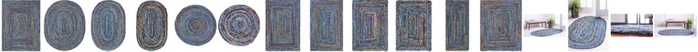 Bridgeport Home Roari Braided Chindi Rbc1 Blue/Multi Area Rug Collection