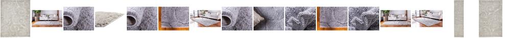Bridgeport Home Malloway Shag Mal1 Light Gray Area Rug Collection