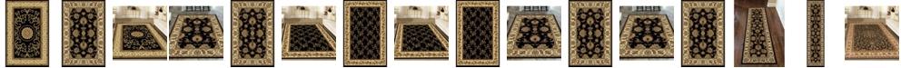 KM Home Navelli Black Area Rug Collection