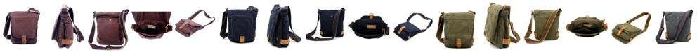 TSD BRAND Atona Classic Flap Canvas Crossbody Bag