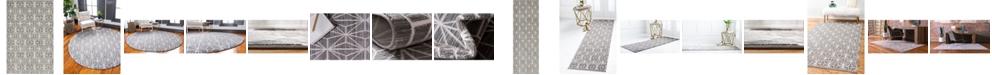 Jill Zarin  Fifth Avenue Uptown Jzu002 Gray Area Rug Collection