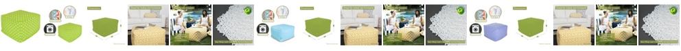 "Majestic Home Goods Small Polka Dot Ottoman Square Pouf 27"" x 17"""