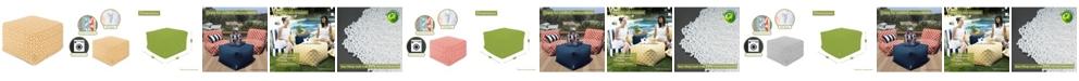 "Majestic Home Goods Aruba Ottoman Square Pouf 27"" x 17"""