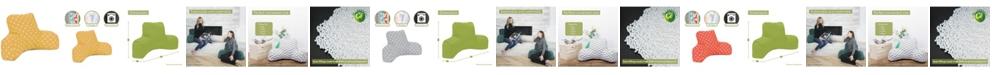 "Majestic Home Goods Ikat Dot Comfortable Soft Reading Pillow 33"" x 18"""