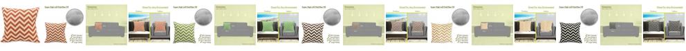 "Majestic Home Goods Chevron Decorative Throw Pillow Extra Large 24"" x 24"""