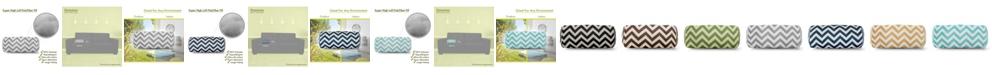 "Majestic Home Goods Chevron Decorative Round Bolster Pillow 18.5"" x 8"""