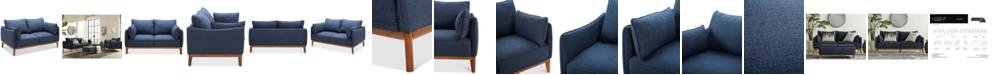 "Furniture Jollene 62"" Fabric Loveseat, Created for Macy's"