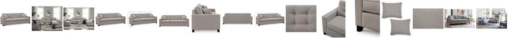 "Furniture Clarke II 93"" Fabric Estate Sofa, Created for Macy's"