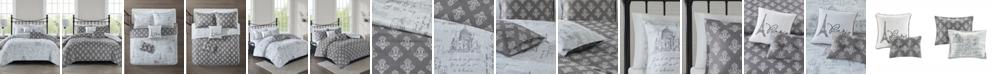 JLA Home 510 Design Marseille Full/Queen 5 Piece Reversible Paris Printed Comforter Set