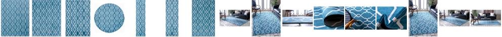 Bridgeport Home Pashio Pas8 Blue Area Rug Collection