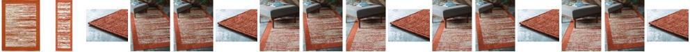 Bridgeport Home Pashio Pas4 Terracotta Area Rug Collection