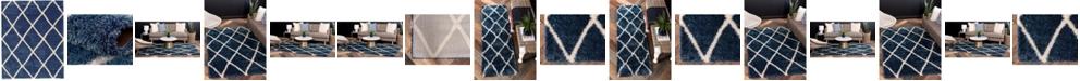 Bridgeport Home Latisse Shag Lts1 Navy Blue Area Rug Collection