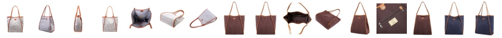 TSD BRAND Pine Hill Canvas Tote Bag