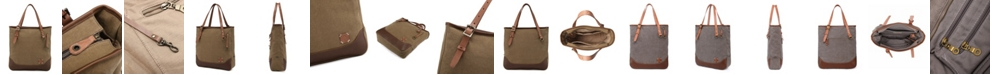 TSD BRAND Redwood Canvas Tote