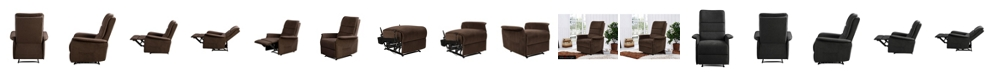 Relax A Lounger Irving Multi Position Recliner, Side Pocket Microfiber Upholstery