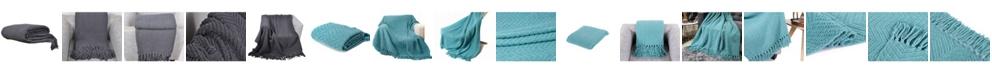 Battilo Knit Zig Zag Textured Woven Micro Chenille Throw