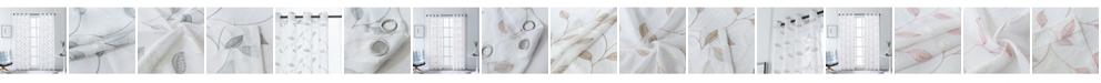 "Lyndale Decor Clarita Embroidery Sheer Curtain, 54"" L x 54"" W"