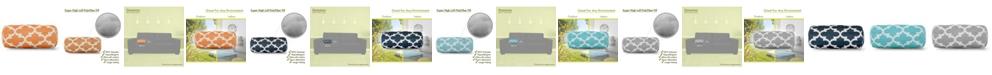 "Majestic Home Goods Treis Decorative Round Bolster Pillow 18.5"" x 8"""