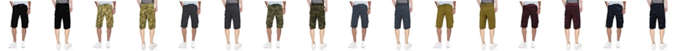 X-Ray Men's Belted D-Ring Cargo Shorts