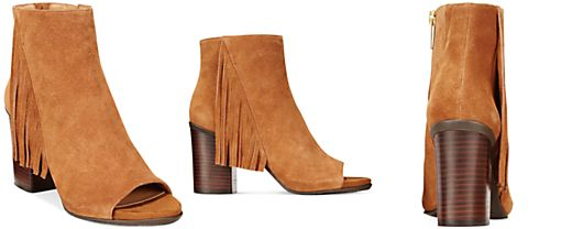 Kenneth Cole Reaction Frida World Fringe Booties