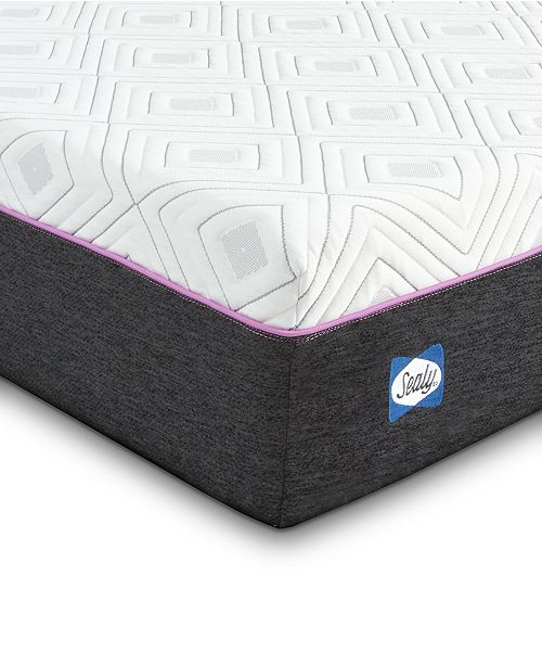 Sealy to Go 10'' Hybrid Cushion Firm Mattress, Quick Ship, Mattress in a Box- Queen