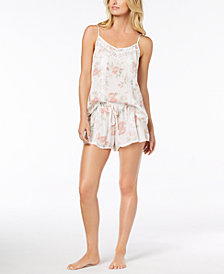 Linea Donatella Day Dream Floral-Print Pajama Short Set