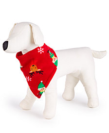 Matching Family Pajamas Elf Pet Bandana, Created for Macy's